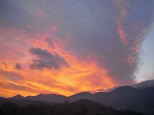 Piatra Craiului sunset from Magura, Transylvania
