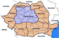 This shows the region of Transylvania within Romania