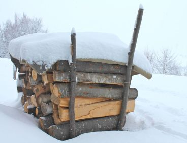 wood, woodpile, logs, stove, fire, winter, snow, freezing cold, warmth, heat, wood-burning stove, Transylvania