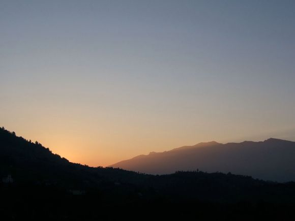 Dawn, sunrise, clear sky, colour, Magura, Transylvania, Romania, mountains, ecology, purity, nature