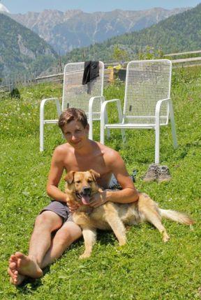 dog, cat, Netherlands, mountains, Magura, Transylvania, summer, HelpX