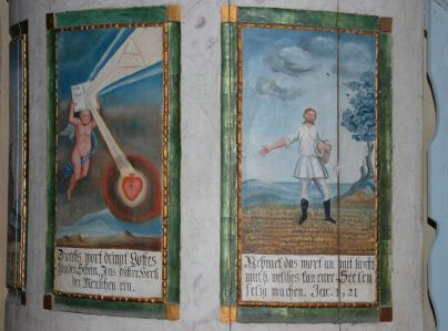 Painted panels at Homerod