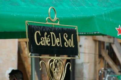 Sun cafe in the rain, Sibiu