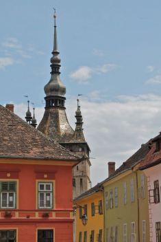 One of the towers in Sighisoara